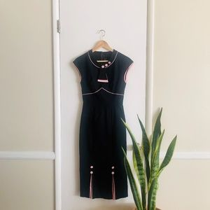 Stop Staring 30's Bombshell Dress Black sz M